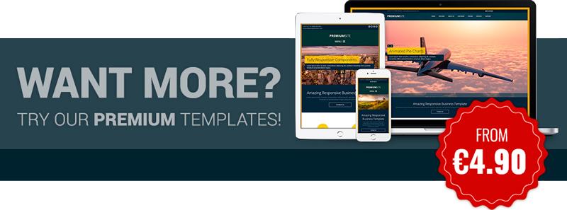 Responsive Premium HTML5 Template