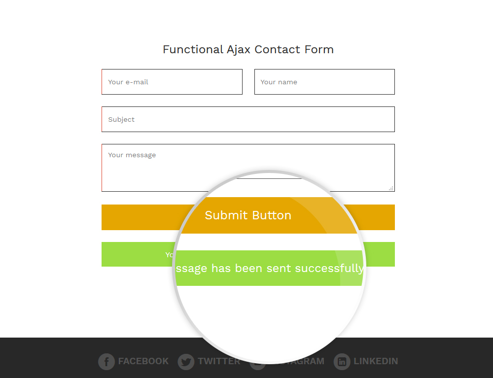 Functional Ajax Contact Form
