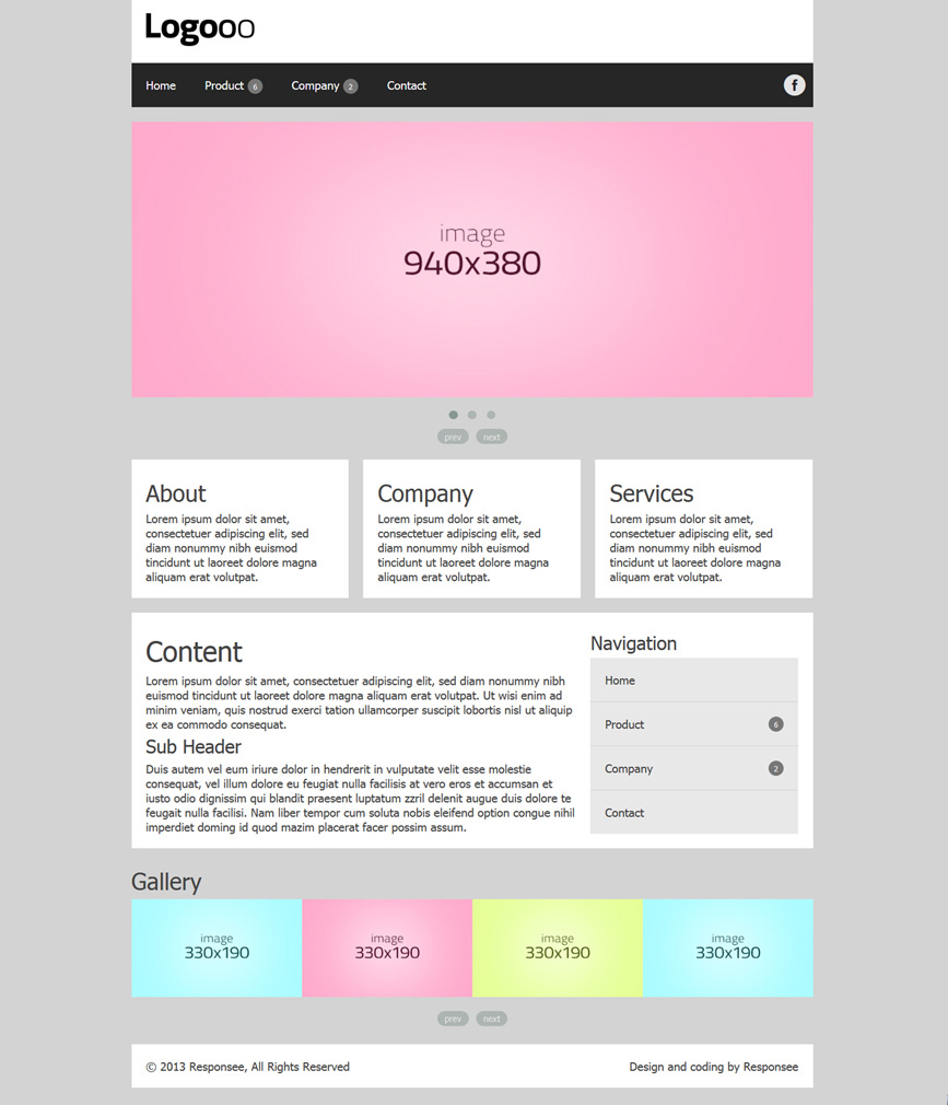 Responsive Business website template