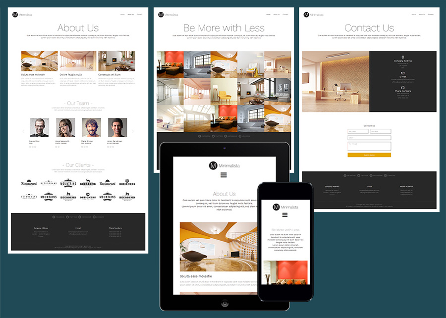15 free amazing responsive business website templates minimalista free elegant business template accmission Images