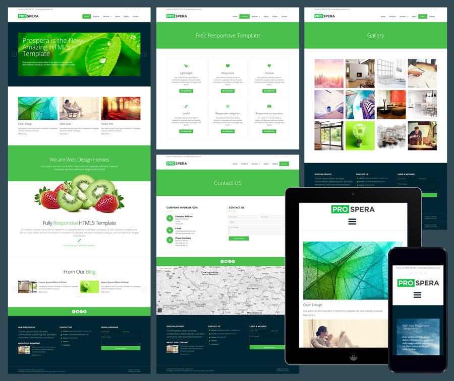 prospera responsive business website template prospera free business template - Free Responsive Website Templates